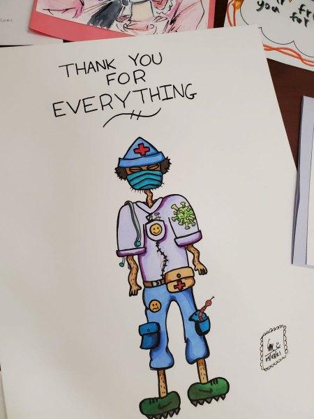 Burnaby school students thank BC nurses
